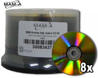 MAM-A DVD-R 8X ARCHIVE GOLD, BLANK FACE 50 Pack ($2.50ea.)