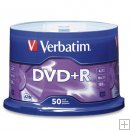 VERBATIM DVD+R 16X Branded 50 Pack