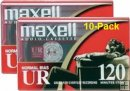 MAXELL UR-120 Normal Bias Audio Cassette Tapes /10-Pack
