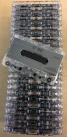 NRS-Type I Normal Bias - CUSTOM Blank Audio CASSETTE C-30 *CLEAR ONLY* (25-pack)
