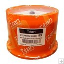 TITAN 8X 8.5gb DVD+R DUAL LAYER WHITE INKJET-HUB PRINTABLE 50pk.