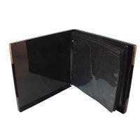 VCD 6 DISC POLY BLACK BINDER w/OVERLAY