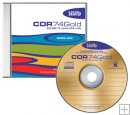 HHB CDR GOLD BRANDED W/ JEWEL CASE 10 Pack, 1x-8x 74 Minute 650MB