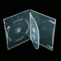 NRS 3-Disc CLEAR DVD Case w/Swing Tray 14mm