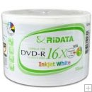 RITEK DVD-R 16X White Ink Jet Hub Printable - 50pk.