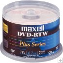 MAXELL DVD-R 8X WHITE THERMAL TOP 50 Pack