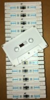 NRS-Type I Normal Bias - CUSTOM Blank Audio CASSETTE C-47 *WHITE ONLY* (25-pack)