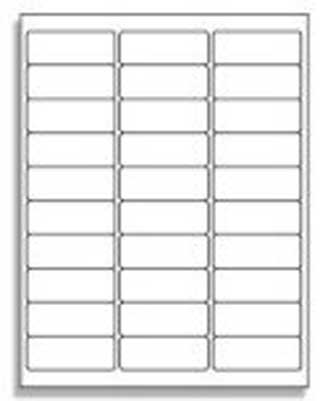 30 Up Label Template from www.tapes.com