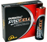 NEW DURACELL PROCELL AA BATTERIES 4PK.