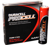 DURACELL PROCELL AAA BATTERIES 4PK.