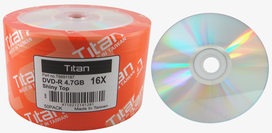 *FREE SHIPPING* 600 TITAN 16X DVD-R SHINY SILVER THERMAL TOP -50pk