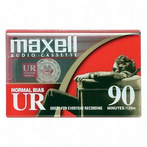 Maxell UR-90 Normal Bias Audio Cassette Tapes - Click Image to Close
