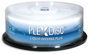 PLEXDISC 25gb 6X Liquid Defense Plus Glossy White Inkjet Hub Printable BD-R - 25pk. - Click Image to Close